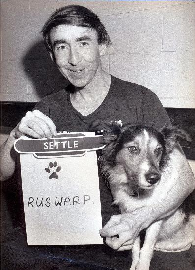 Graham Nuttall and his loyal dog Ruswarp