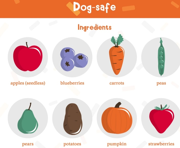 A list of human foods that are safe to use in making a dog cake