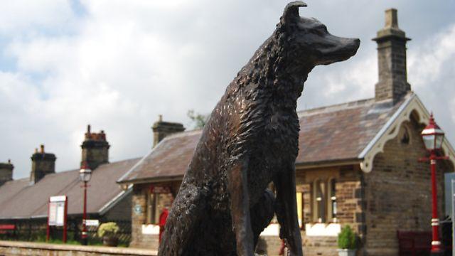 Ruswarp's statue at Garsdale Station