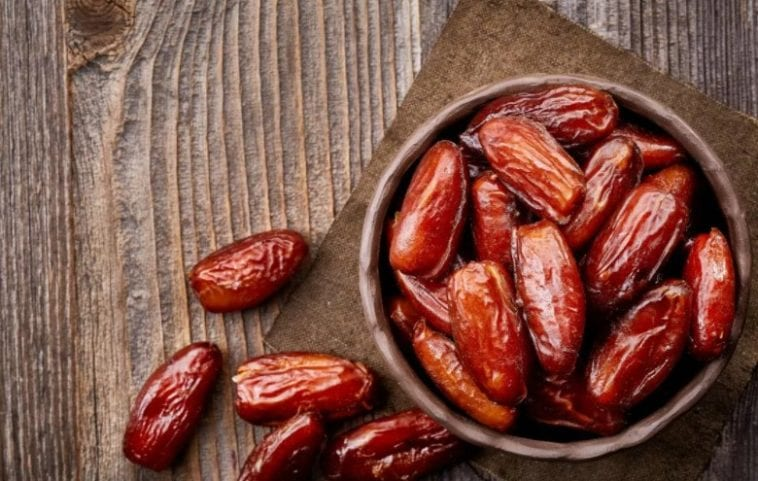 A bowl of dates in order to answer can dogs eat dates?
