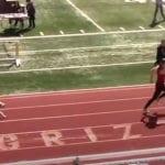golden retriever won a race